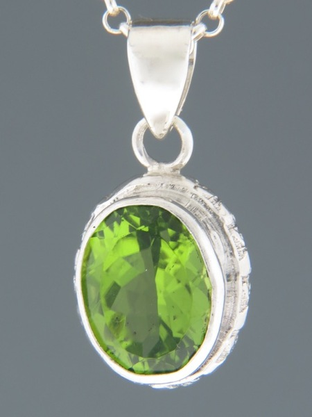 Peridot Pendant - Sterling Silver - P316