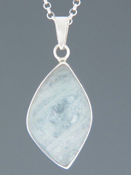 Aquamarine Pendant - Sterling Silver - AQ310