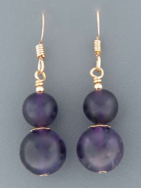 Amethyst Earrings - 14ct Gold Filled - A671G