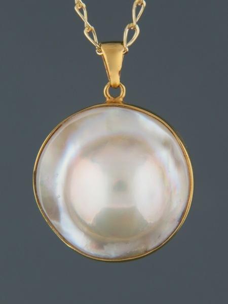 Mussel Pearl Pendant - Gold Vermeil - Y428GV