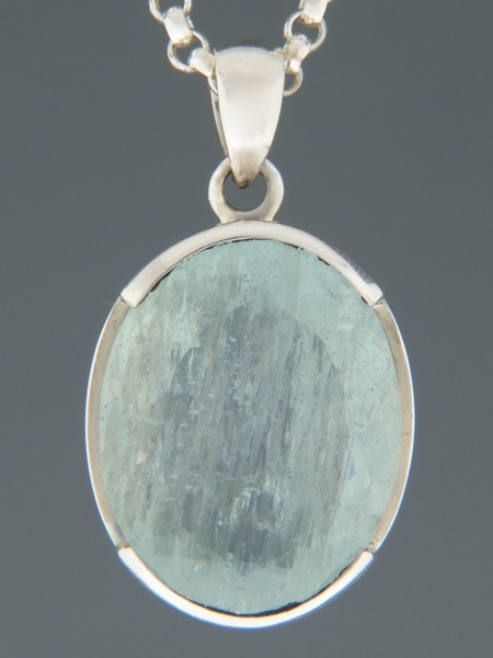 Aquamarine Pendant - Sterling Silver - AQ302