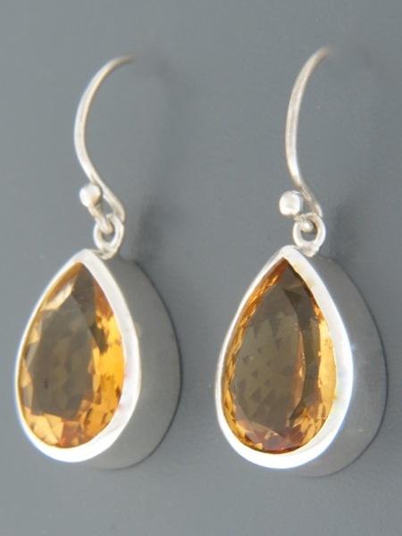 Citrine Earrings - Sterling Silver - C521