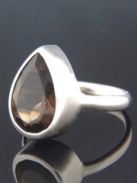 Smokey Quartz Ring - Sterling Silver - SQ101R