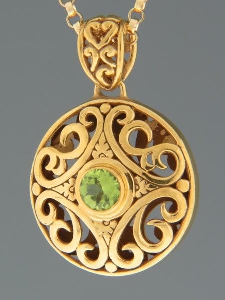 Peridot Pendant - Gold Vermeil - P313GV