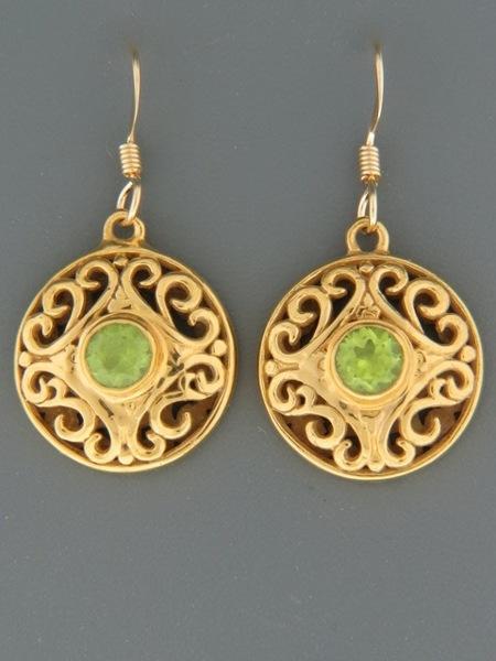 Peridot Earrings - Gold Vermeil - P555GV