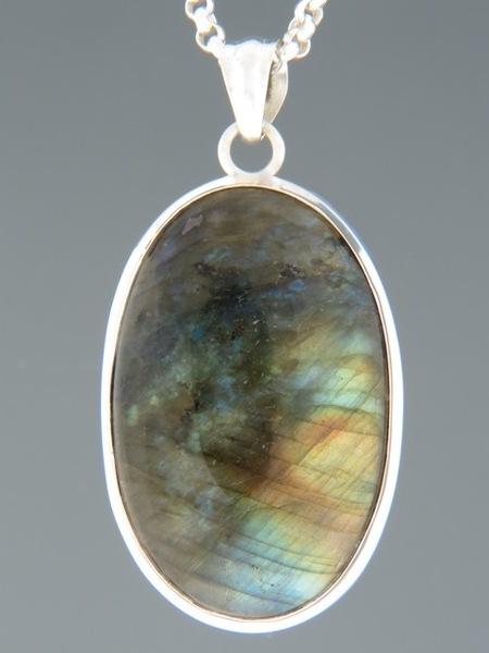 Labradorite Pendant - Sterling Silver - LAB316