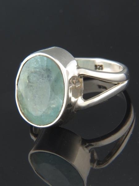 Aquamarine Ring - Sterling Silver - AQ112R
