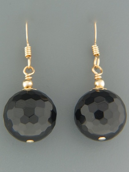 Onyx Earrings - 14ct Gold Filled - OX520G