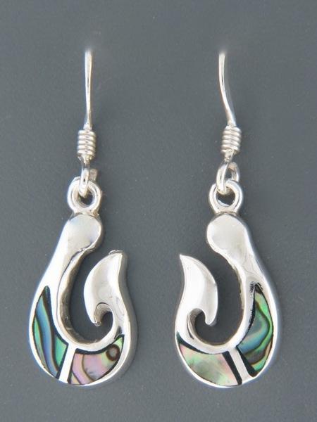 Paua Shell Earrings - Sterling Silver - PA528