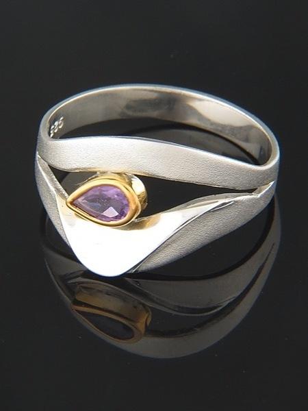 Amethyst Ring - Sterling Silver - A129R