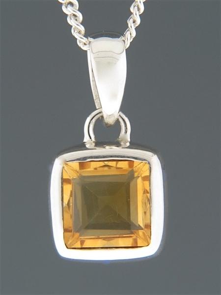 Citrine Pendant - Sterling Silver - C310