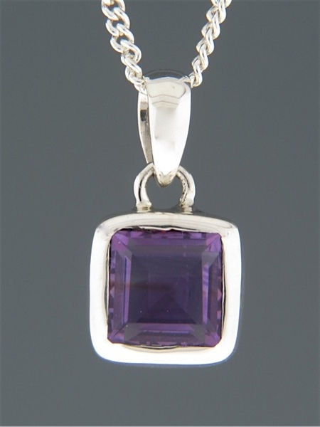 Amethyst Pendant - Sterling Silver - A301