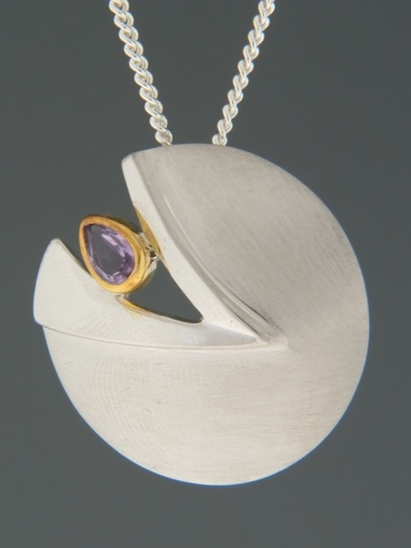 Amethyst Pendant - Sterling Silver - A333