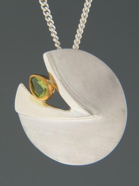 Peridot Pendant - Sterling Silver - P322