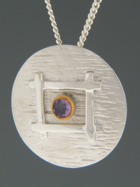 Amethyst Pendant - Sterling Silver - A326