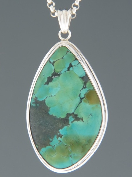 Turquoise Pendant - Sterling Silver - TQ307