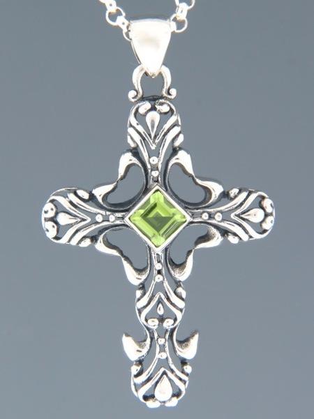 Peridot Pendant - Sterling Silver - P345