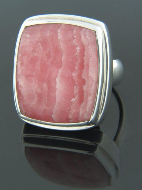 Rhodochrosite Ring - Sterling Silver - RH101R