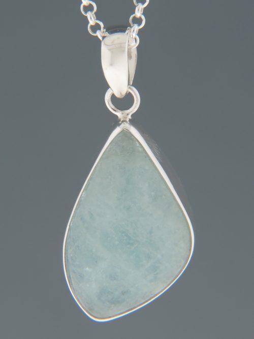 Aquamarine Pendant - Sterling Silver - AQ314