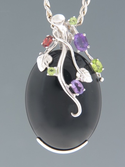 Onyx Pendant - Sterling Silver - OX302