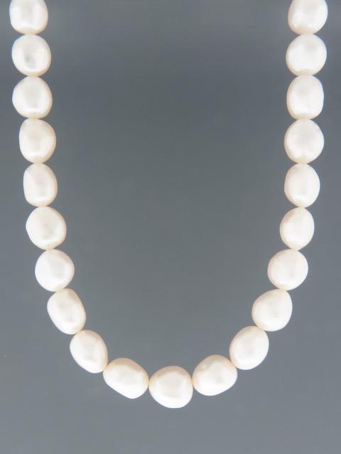 10mm Baroque Pearl Necklace - YWBQ10N