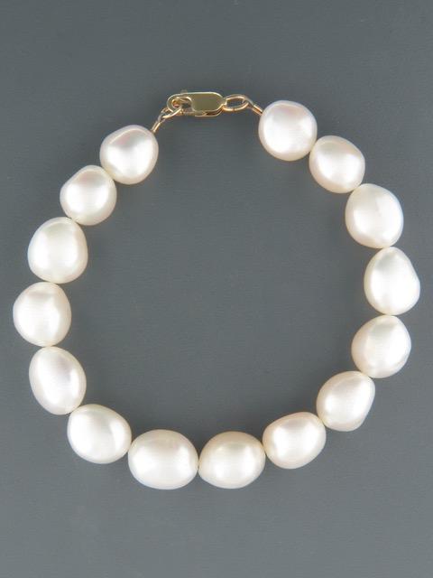 10mm Baroque Pearl Bracelet - YWBQ10B