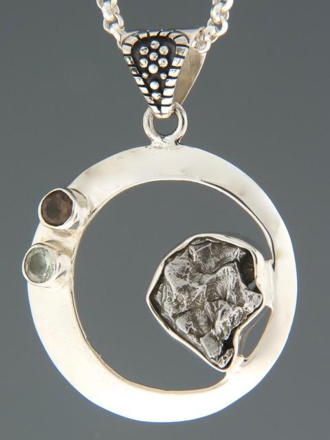 Meteorite Pendant - Sterling Silver - X306