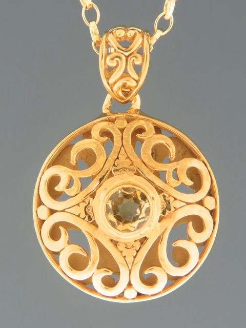 Citrine Pendant - Gold Vermeil - C397GV