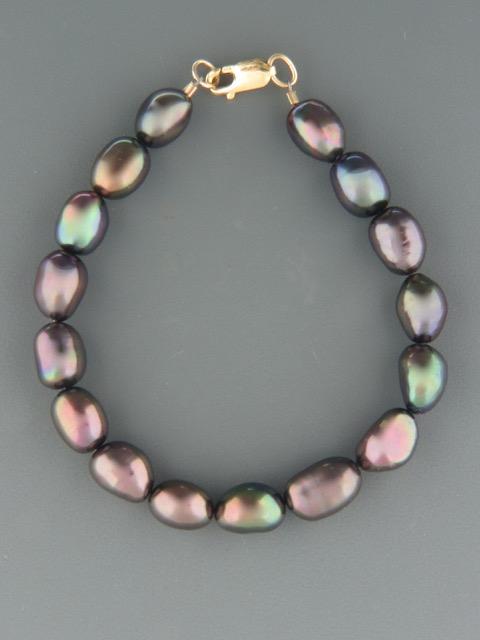 10mm Baroque Pacific Pearl Bracelet - YDBQ10B