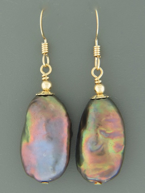 Baroque Pearl Earrings - 14ct Gold Filled - Y521G