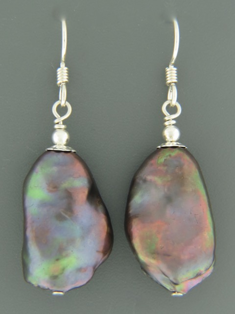 Baroque Pearl Earrings - Sterling Silver - Y521
