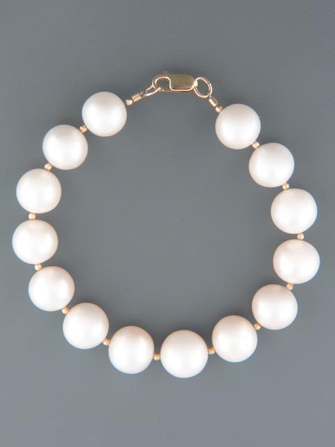 White Pacific Pearl Bracelet - 11-12.5mm - Y923