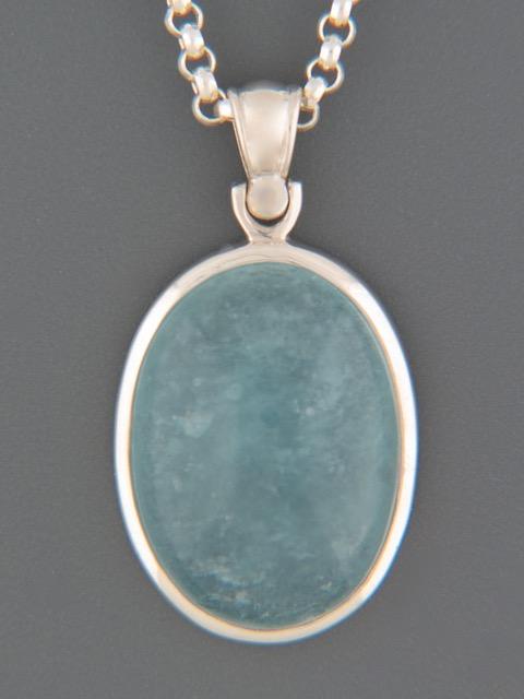 Aquamarine Pendant - Sterling Silver - AQ301