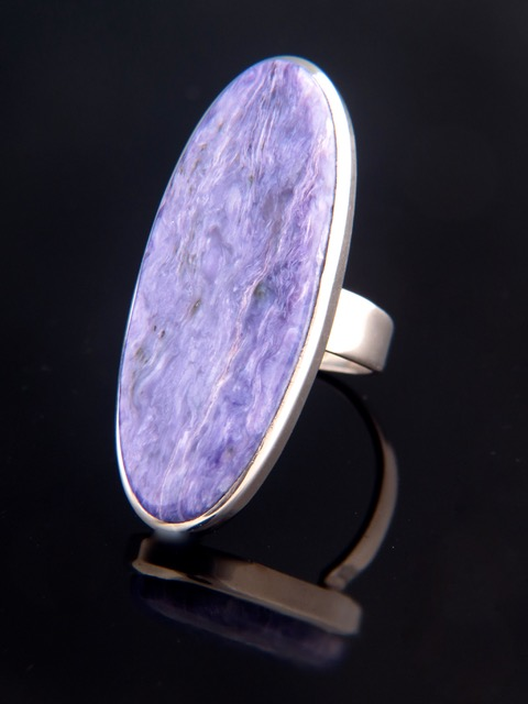 Charoite Ring - Sterling Silver - CH101R