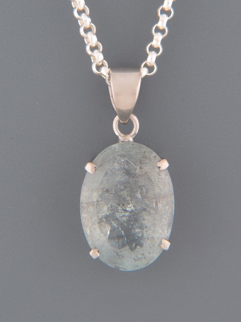 Aquamarine Pendant - Sterling Silver - AQ323