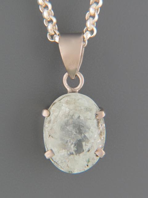 Aquamarine Pendant - Sterling Silver - AQ311