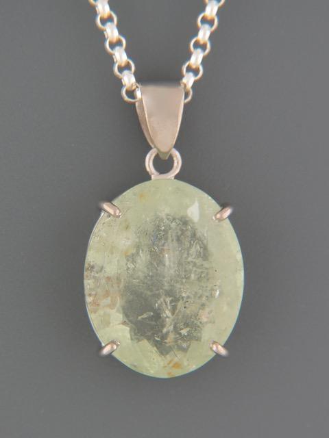 Aquamarine Pendant - Sterling Silver - AQ329