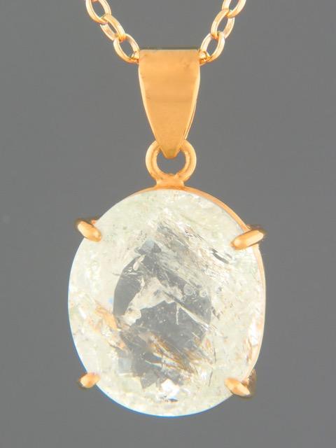 Aquamarine Pendant - Gold Vermeil - AQ330GV