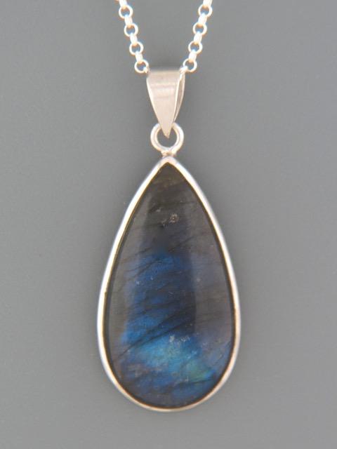 Labradorite Pendant - Sterling Silver - LAB313