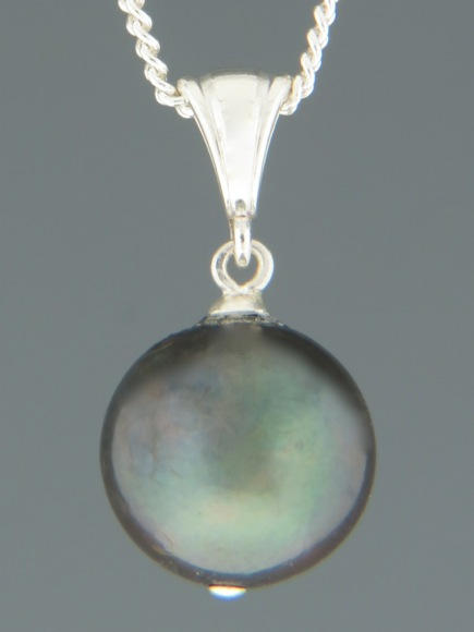 Pacific Pearl Pendant - Sterling Silver - 12mm Pearl - YD12PS