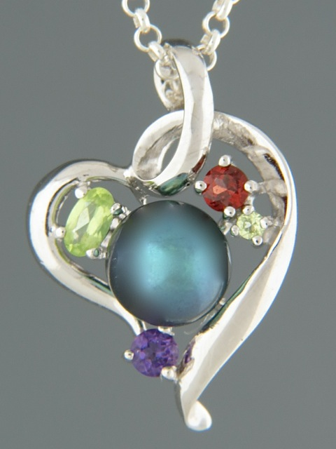 Pacific Pearl Pendant - Sterling Silver - Y308