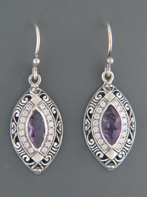 Amethyst Earrings - Sterling Silver - A514