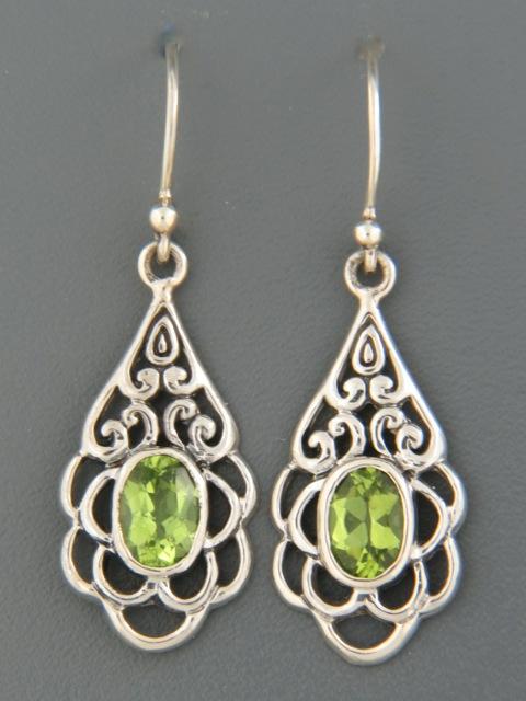 Peridot Earrings - Sterling Silver - P566