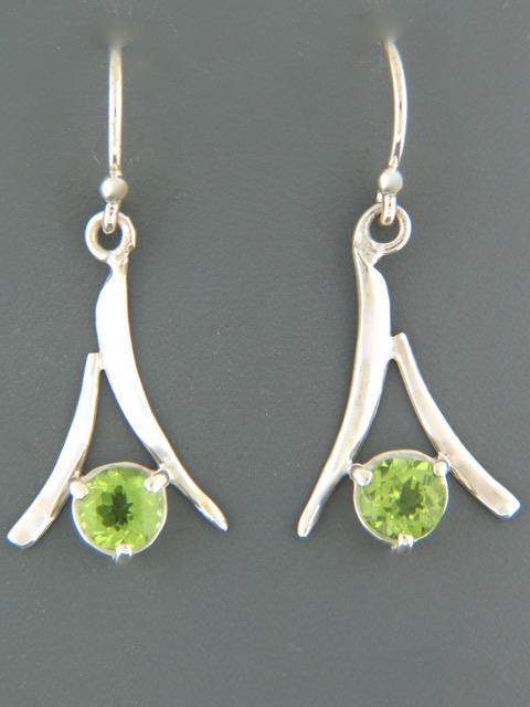 Peridot Earrings - Sterling Silver - P507
