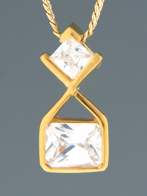 Zircon Pendant - Gold Vermeil - Z433GV