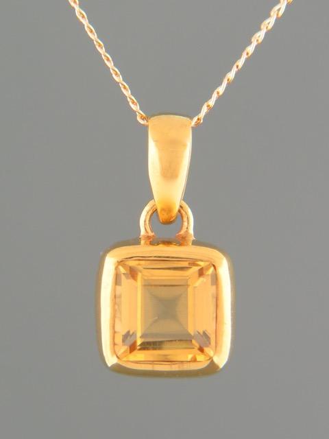 Citrine Pendant - Gold Vermeil - C310GV