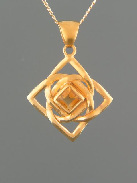 Citrine Pendant - Gold Vermeil - C386GV
