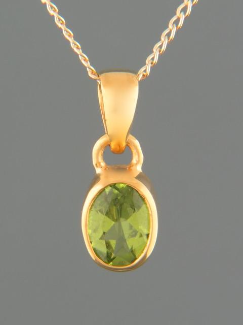 Peridot Pendant - Gold Vermeil - P312GV