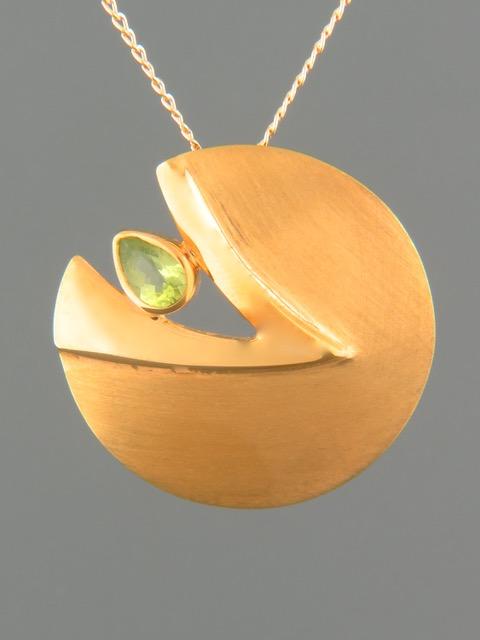 Peridot Pendant - Gold Vermeil - P322GV