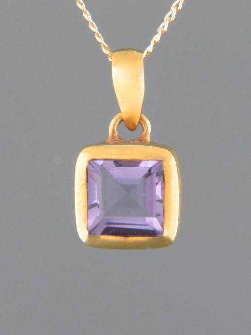 Amethyst Pendant - Gold Vermeil - A301GV